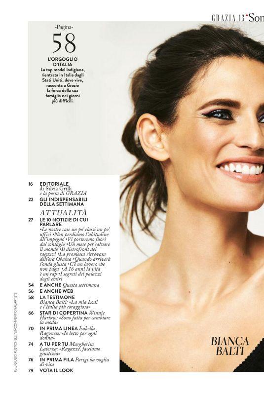 BIANCA BALTI in Grazia Magazine, Italy March 2020