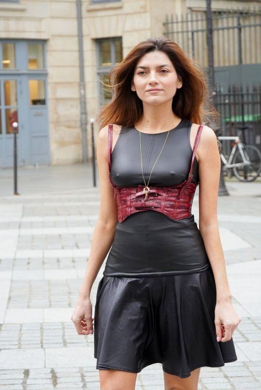 BLANCA BLANCO Out at Paris Fashion Week 02/29/2020