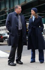 BRIDGET MOYNAHAN on the Set of Blue Bloods in The Bronx 03/06/2020