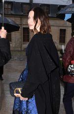 CAITRIONA BALFE Leaves Valentino Fashion Show in Paris 03/01/2020