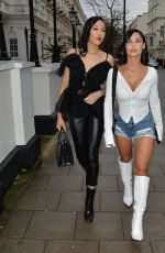 CALLY JANE BEECH in Denim Shorts Out in London 03/15/2020