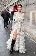 CAMILA COELHO Arrives at Giambattista Valli Show at Paris Fashion Week 03/02/2020
