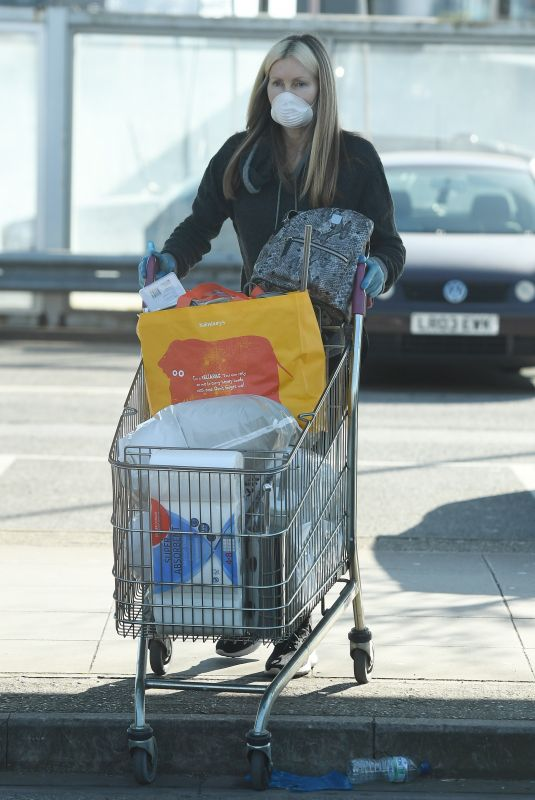 CAPRICE BOURET with Face Mask Out Shopping in London 03/24/2020