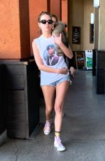 CARA DELEVINGNE and ASHLEY BENSON with Their Dog Out Shopping in Los Angeles 03/26/2020