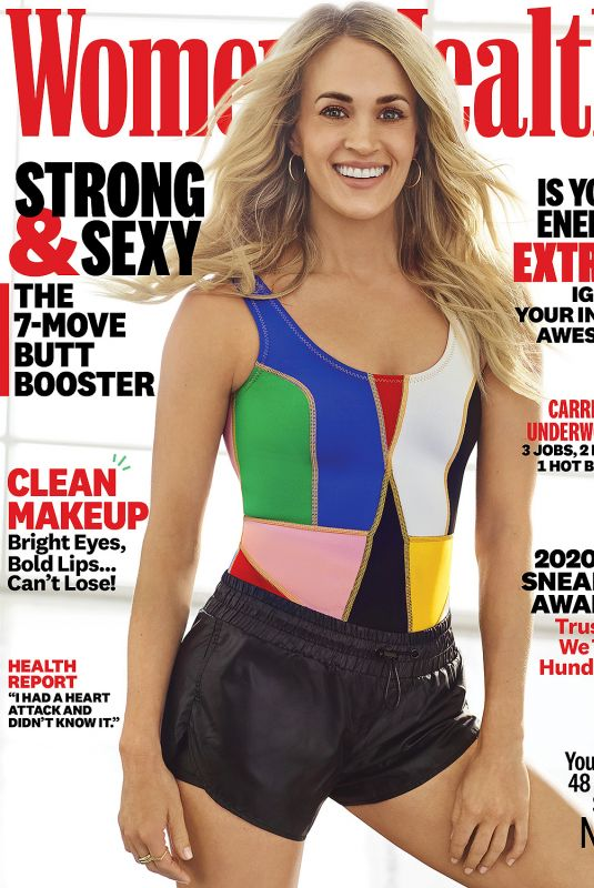 CARRIE UNDERWOOD in Women's Health Magazine, April 2020
