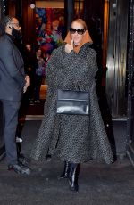 CELINE DION Leaves Her Hotel in New York 03/06/2020