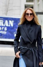 CELINE DION Out and About in New York 02/29/2020