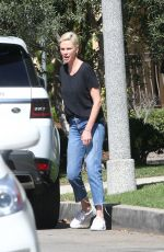 CHARLIZE THERON in Denim Out in Los Angeles 02/29/2020