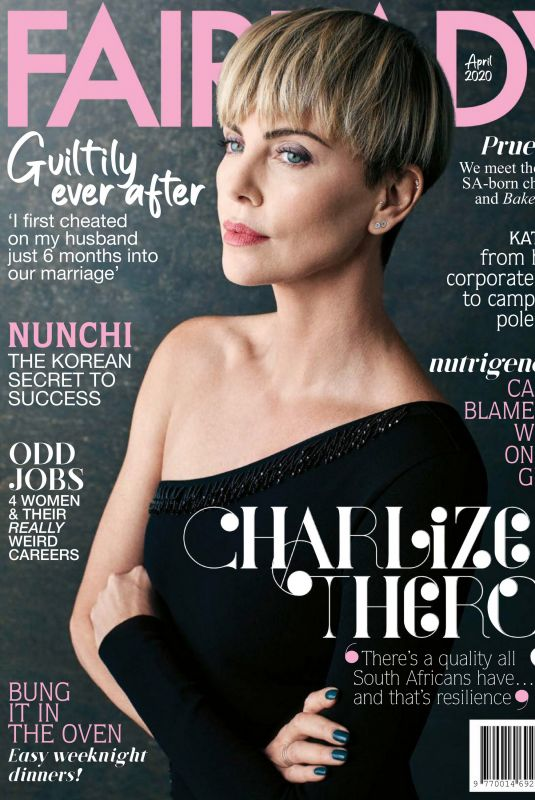 CHARLIZE THERON in Fairlady Magazine, April 2020