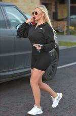 CHLOE FERRY in Tight Dress Out in Newcastle 03/04/2020
