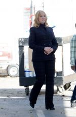 CHRISTINA HENDRICKS on the Set of Good Girls in Los Angeles 03/03/2020