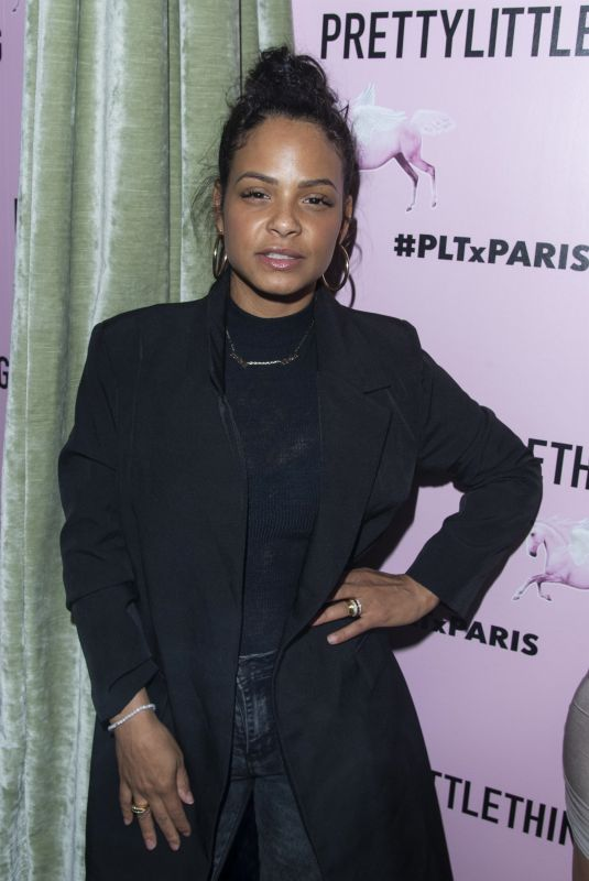 CHRISTINA MILIAN at PrettyLittleThing Paris Showroom Launch Party 03/03/2020