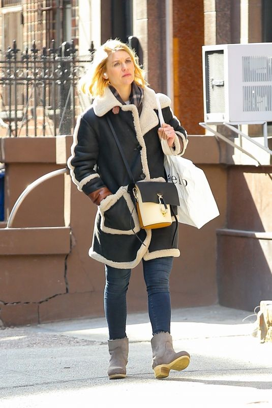 CLAIRE DANES Out Shopping in New York 03/02/2020