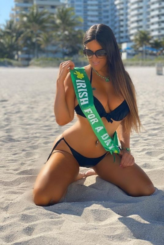 CLAUDIA ROMANI in Bikini Ready for St Patrick's Day in South Beach 03/16/2020
