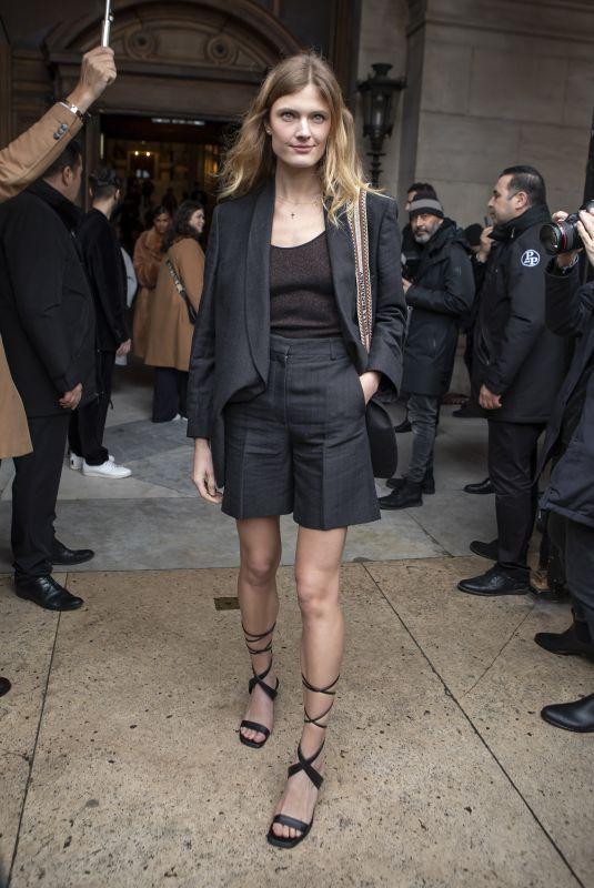 CONSTANCE JABLONSKI Arrives at Stella McCartney Show in Paris 03/02/2020