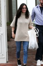COURTENEY COX Shopping on Melrose Place in Hollywood 03/10/2020