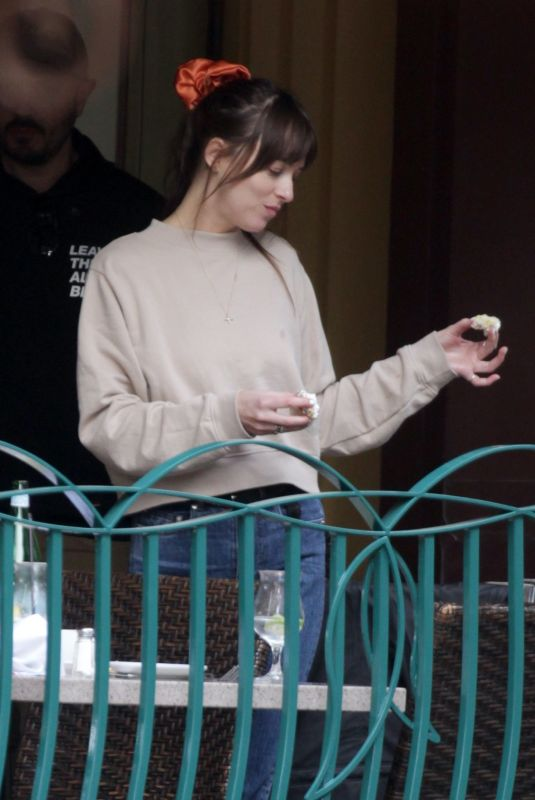 DAKOTA JOHNSON and Chris Martin Celebrates His Birthday in Disneyland 03/05/2020