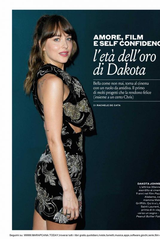 DAKOTA JOHNSON in Tu Style Magazine, Italy March 2020