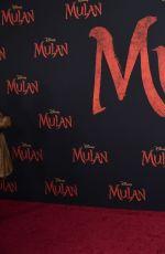 DANIA RAMIREZ at Mulan Premiere in Hollywood 03/09/2020