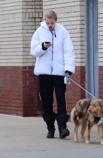 DAPHNE GROENEVELD Out with Her Dog in New York 03/20/2020