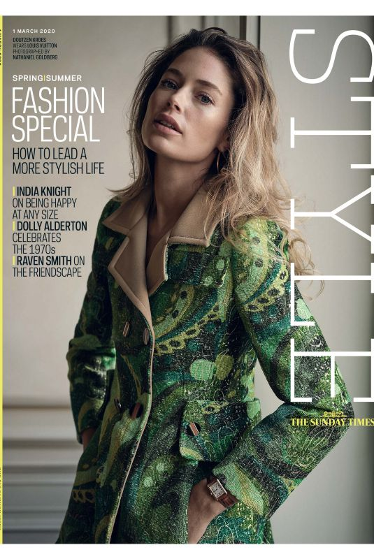 DOUTZEN KROES in The Sunday Times Style Magazine, March 2020