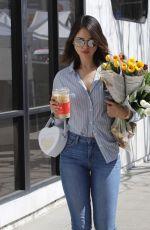 EIZA GONZALEZ Buy Flowers at Farmers Market in Los Angeles 03/08/2020