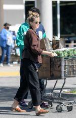 ELIZABETH OLSEN and Robbie Arnett at Erewhon Market in Los Angeles 03/30/2020