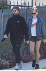 ELIZABETH OLSEN and Robbie Arnett in Out in Los Angeles 03/30/2020