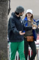 ELIZABETH OLSEN and Robbie Arnett Out for Coffee in Los Angeles 03/21/2020