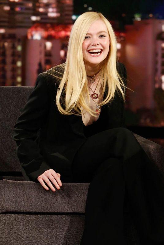 ELLE FANNING at Jimmy Kimmel Live in Los Angeles 03/04/2020