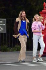 ELSA HOSK and Tom Daly Out in New York 03/28/2020
