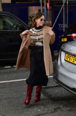 EMILIA CLARKE Arrives at BBC Radio 2 in London 03/03/2020