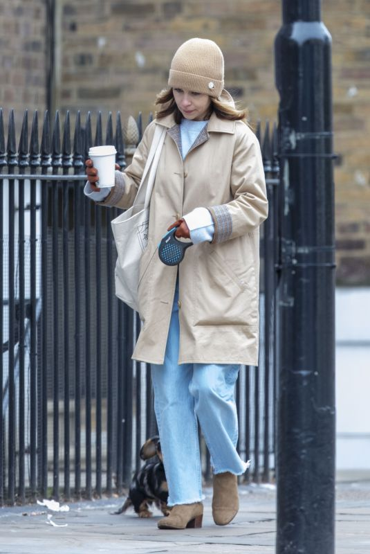 EMILIA CLARKE Out with Her Dog in London 03/20/2020