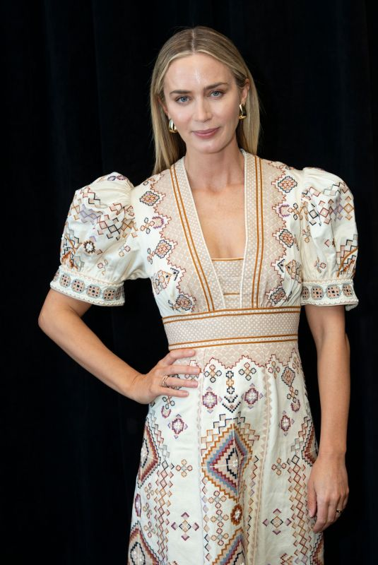 EMILY BLUNT at A Quiet Place, Photocall in New York, March 2020