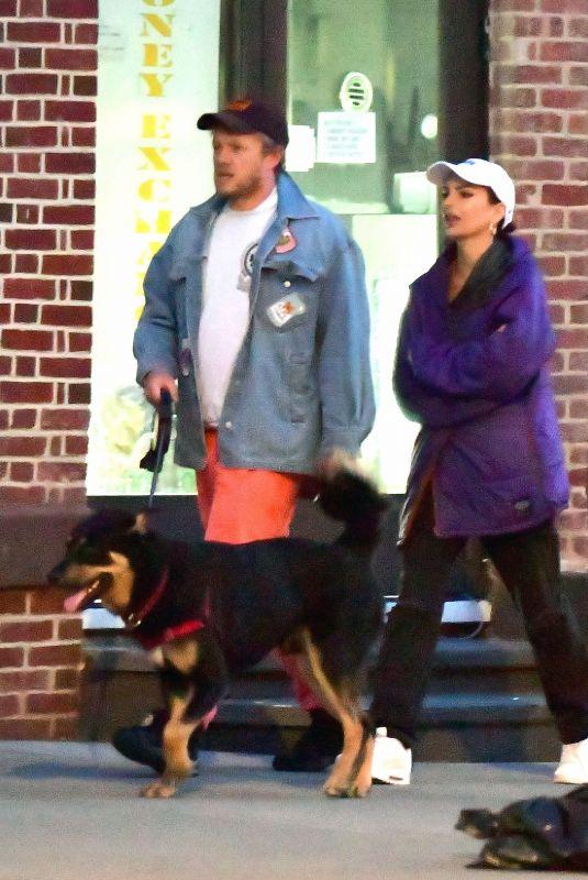 EMILY RATAJKOWSKI and Sebastian Bear McClard Out with Their Dog in New York 03/27/2020