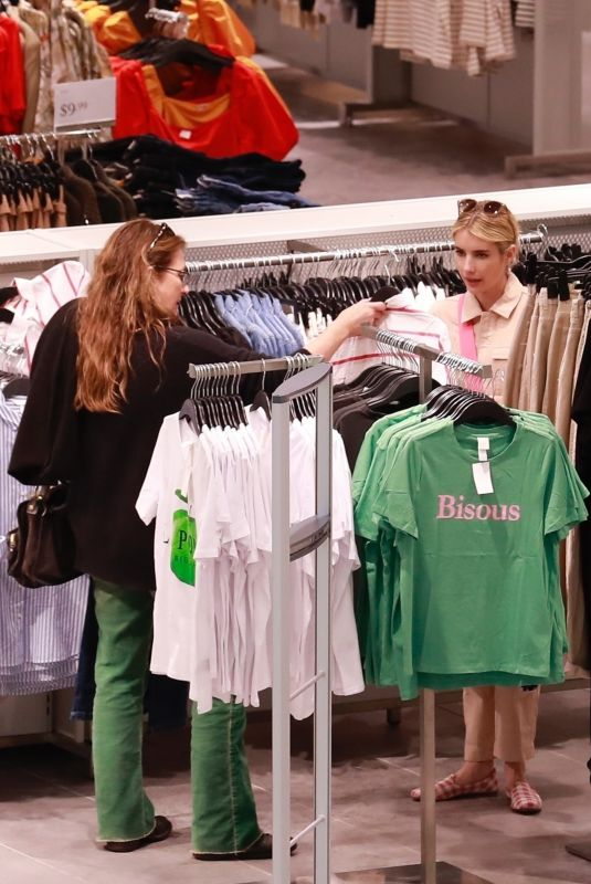 EMMA ROBERTS and KELLY CUNNINGHAM Shopping at H&M in Burbank 03/09/2020
