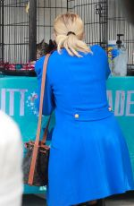 EMMA ROBERTS at Cat Adoption Booth in Los Angeles 03/01/2020