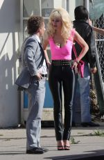 EMMY ROSSUM on the Set of Angelyne in Los Angeles 03/03/2020