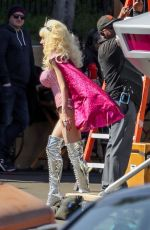 EMMY ROSSUM on the Set of Angelyne in Los Angeles 03/05/2020