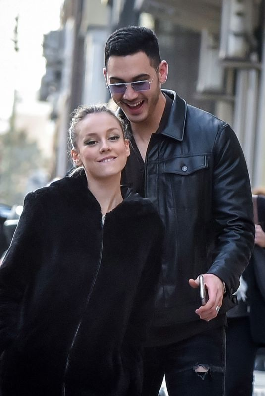 ESTER EXPOSITO and Alejandro Speitzer Out in Madrid 02/29/2020