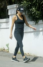 EVA LONGORIA Goes for a Solo Workout in Los Angeles 03/21/2020