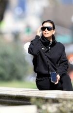 EVA LONGORIA Out at a Park in Beverly Hills 03/17/2020