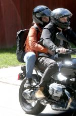 FLORENCE PUGH and Zach Braff at a Bike Ride Out in Los Angeles 03/21/2020