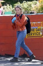 FLORENCE PUGH and Zach Braff Out in Los Angeles 03/21/2020