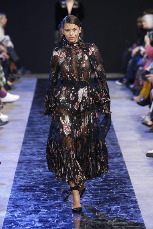 GEORGIA FOWLER at Elie Saab Runway Show at Paris Fashion Week 02/29/2020