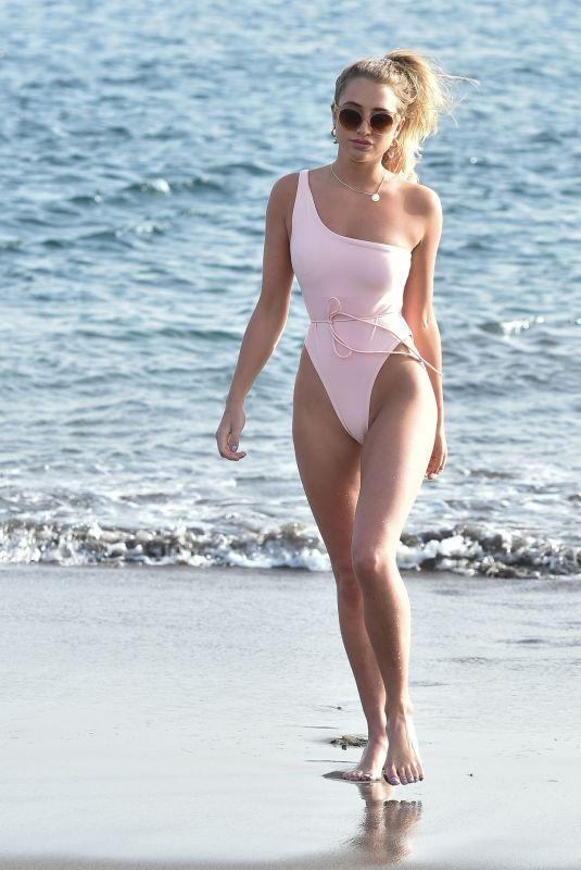 GEORGIA HARRISON in Swimsuit at a Beach in Tenerife 03/06/2020