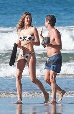 GISELE BUNDCHEN in a Polka Dot Bikini on the Beach in Costa Rica 03/12/2020
