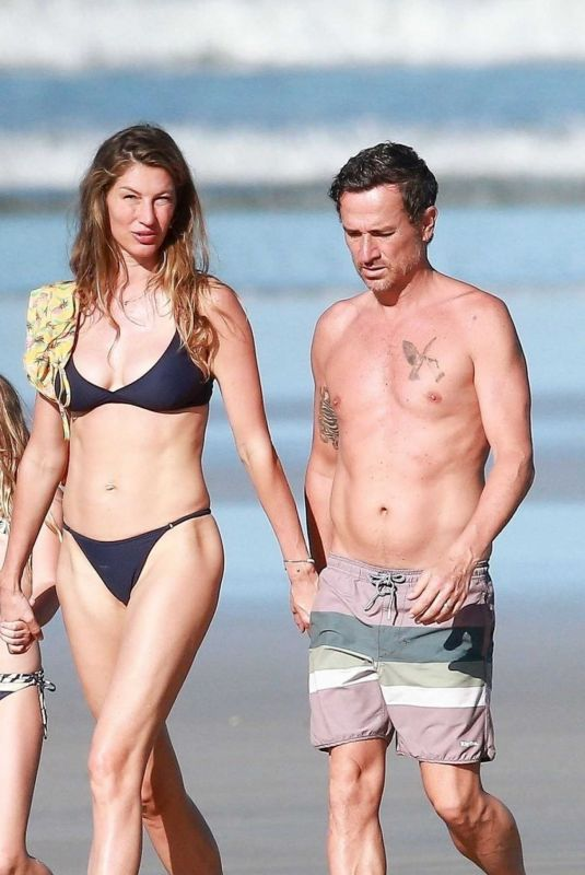 GISELE BUNDCHEN in Bikini Out on the Beach in Costa Rica 03/24/2020