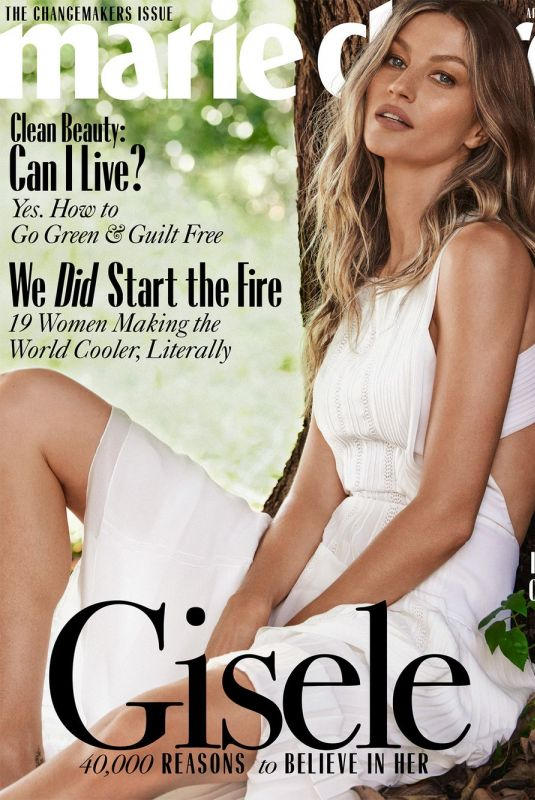 GISELE BUNDCHEN in Marie Claire Magazine, April 2020
