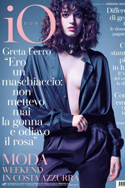GRETA FERRO in Io Donna Del Corriere Della Sera, March 2020